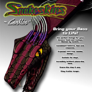 Snakeskins by Conklin Bass Strings Package Cover